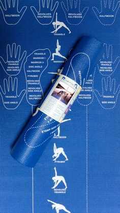 Instructional Yoga Mat with hand and foot by CopyCatYogaMat, $56.00
