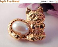 Cat Kitten Feline Lapel Tack Hat Pin by SpringJewelryThings