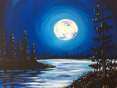 Moonlight paintings... Tipsy Fox painting events, teaching paintings in local bar and restaurants in the greater Seattle area. Come see the website for tickets and details for upcoming events.