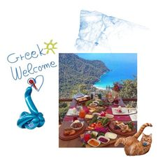 """""""Greek Welcome."""" by amarenalive on Polyvore featuring art"""