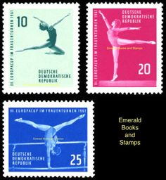 EBS-East-Germany-DDR-1961-Women-039-s-Gymnastics-European-Cup-Michel-830-832-MNH