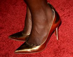 "Lupita Nyong'o Photos - Actress Lupita Nyong'o (shoe detail) attends the premiere of Universal Pictures and Studiocanal's ""Non-Stop"" at Regency Village Theatre on February 24, 2014 in Westwood, California. - Premiere Of Universal Pictures And Studiocanal's ""Non-Stop"" - Arrivals"