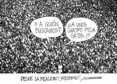"""Compartimos nuestra caricatura del día: """"Desde la realidad reportó"""""""