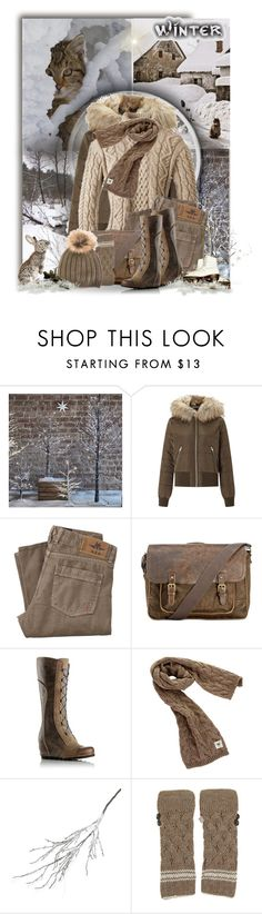 """Winter in Brown"" by jackie22 ❤ liked on Polyvore featuring Miss Selfridge, Patricia Nash, SOREL, Avoca, Crate and Barrel, Samantha Holmes and Joseph"