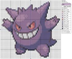 To finish the trio off, here's Gengar! He may look kind of cute in a weird way but don't trust him. His crimes are many; here's just a few: He likes to scare people in the night, he tries to curse them, he attacks the lost, steals life from people... Not a nice guy!