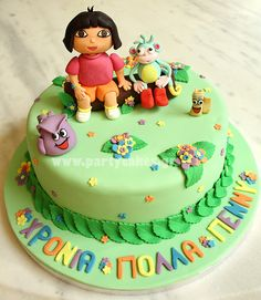 Dora The Explorer & friends cake | Flickr - Photo Sharing!