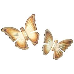1970's Brass Butterfly Wall Hangings- A Pair ($24) ❤ liked on Polyvore featuring home, home decor, wall art, sculptural wall objects, brass home accessories, brass figurines, butterfly figurines, butterfly home decor and brass wall hanging