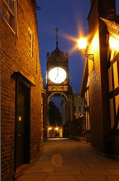 Eastgate Street Clock Chester, England.