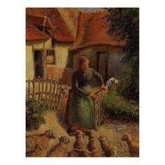 Paul Gauguin, George Seurat, Camille Pissarro Paintings, Sheep Paintings, Art Français, Gustave Courbet, Impressionist Artists, Jewish Art, Claude Monet