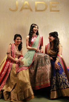 Our aspiring JADE Brides are having a gala of a time!  #JADEbyMK #JADEBrides #wedding #India