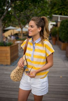 Band Of Outsiders Top, MICHAEL Michael Kors Shorts, Mar Y Sol Bag, Ray