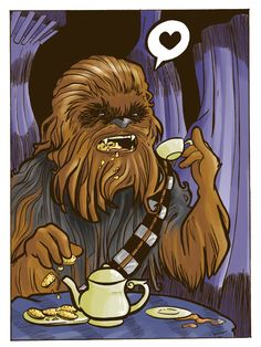 Chewbacca...drinking tea :O