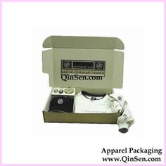 Custom Apparel Boxes,Printing Corrugated Paper Clothing Boxes(Foldable and Flat Packaging),Apparel Gift Boxes. www.QinSen.com