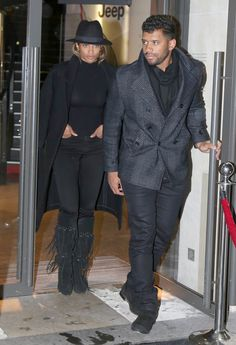 Pin for Later: Ciara and Russell Wilson Coordinate Outfits and Hold Hands in Paris