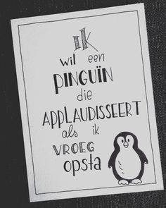 I want a penguin that applauds when I get up early. Art Quotes, Funny Quotes, Diy Postcard, Passion Planner, Journal Quotes, Lettering Tutorial, Bullet Journal Ideas Pages, Letter Art, Cool Cards