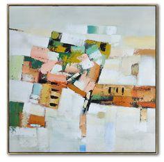 Large Contemporary Art On Canvas Hand Paint por CelineZiangArt