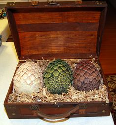 dragon egg | Game Of Throne's Inspired Dragon Egg Set w/Chest |