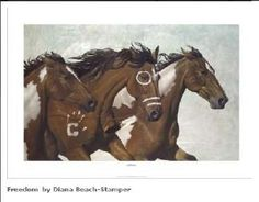 Western Cowboy Paintings| Western Cowboy Art|American Indian Prints by lidia