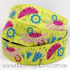 sophie flowers ribbon  #yellow #ribbon #ribbonsgalore