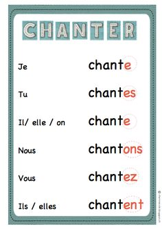 Chapter 2. This pin gives you the basic information on the verb chanter. It provides how to conjugate this verb.
