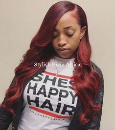 Little Girl Hairstyles, Black Women Hairstyles, Burgundy Hairstyles, Beautiful Hairstyles, Weave Hairstyles, Straight Hairstyles, Baddie Hairstyles, Prom Hairstyles, Curly Hair Styles