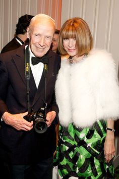 Anna Wintour with Bill Cunningham.