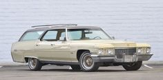 """This photo provided by Courtesy of Mecum Auctions, Elvis Presley's 1972 Cadillac Custom Estate Wagon is shown. """"The King of Rock n' Roll"""" owned the car from 1972 until his death in 1977."""