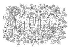 Mothers Day Mum Coloring Pages – Free Coloring Sheets - Streuselkuchen Mit Pudding Bear Coloring Pages, Free Coloring Sheets, Printable Coloring Pages, Adult Coloring Pages, Coloring Rocks, Fairy Coloring, Mothers Day Presents, Mothers Day Cards, Happy Mothers Day
