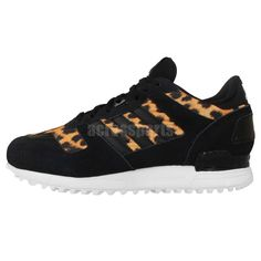 Adidas Originals ZX 700 W Black Leopard Cheetah Womens Run Casual Shoes  M21336