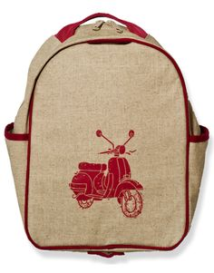 Red Scooter Toddler Backpack