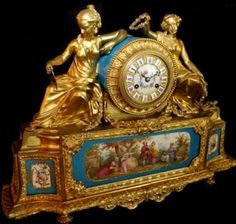 Antiques > Charlotte Nail Antiques > French Bronze and Sevres Clock