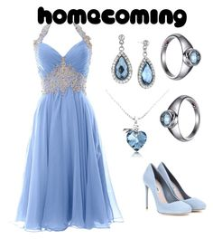 """""""Homecoming Halter Dress"""" by rubysal ❤ liked on Polyvore featuring Miu Miu and contestentry"""
