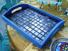 great use for some of those glass scraps! Make trays and sell on Etsy!