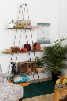 Folding Metal Bookcase-Urban Outfitters