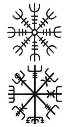 Vegvisir the magic compass of vikings Viking Tattoos, Leg Tattoos, Body Art Tattoos, Sleeve Tattoos, Viking Compass Tattoo, Tatoos, Norse Runes, Viking Symbols, Norse Mythology