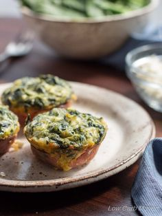 Spinach Feta Quiche Muffins Shared on http://www.facebook.com/LowCarbZen