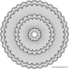 Do you have very sharp pencils or fine tipped markers? You'll need them to color this mandala.