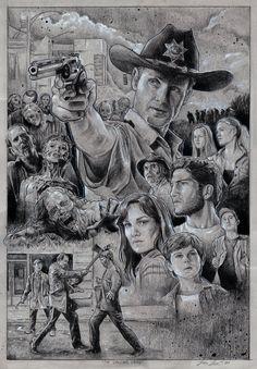 The Walking Dead Fan Art-The Walking Dead by Juan Jose Saldarriaga