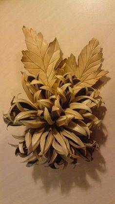 Leather flower made by STOFFELDESIGN