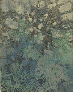 "Lauren Kussro: ""Deep Calls To Deep"" -- Etching, monotype, silkscreen, 11×14″  2013"