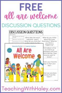 Have you read All Are Welcome? I absolutely love this book! It is perfect for back to school, but you could use it anytime! This is the perfect social emotional learning book to read during your classroom meeting time or morning meeting to discuss diversity. In this post, I share All Are Welcome book activities as well as a free discussion questions download. This freebie is great for working on comprehension skills before, during, and after reading the book.