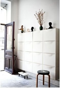 The wall-mounted Trones storage box may be designed to hold shoes, but there are many ways to use them for storage all around the home.