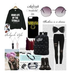"""""""dan and phil tumblr grunge"""" by jiminsankmyboat ❤ liked on Polyvore featuring Monki, Serge Lutens, Bling Jewelry, Vans, Child Of Wild, Waterford, Marc by Marc Jacobs and Tiffany & Co."""