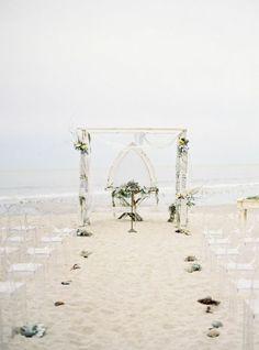 Whimsical Beachside California Wedding - MODwedding