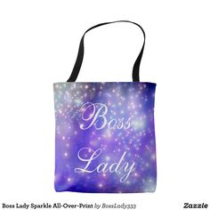 Boss Lady Sparkle All-Over-Print Tote Bag