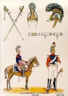Les carabiniers Belges Les planches uniformologiques de Robert Aubry