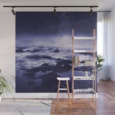 Buy Stardust Ocean - Seascape At Night in Ultraviolet Wall Mural by dirkwuestenhagenimagery. Worldwide shipping available at Society6.com. Just one of millions of high quality products available.