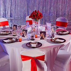 "Wedding reception ""Fire and Ice"" table decorating kit"