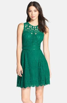 Adelyn Rae Sleeveless Lace Fit & Flare Dress available at #Nordstrom