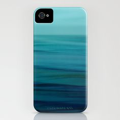 Greenish Blues iPhone Case by Lena Weisbek - $35.00